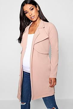 Maternity Double Breasted Duster Jacket