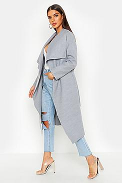 Se  Belted Waterfall Coat ved Boohoo.com