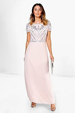 Boutique Sequin Embellished Maxi Bridesmaid Dress