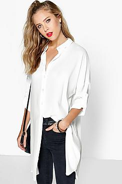 Longline Oversized Sleeve Shirt