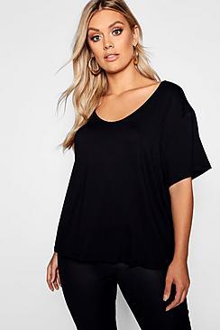 Plus Super Soft Oversized Basic T-Shirt