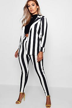 Se  Plus Striped Suit Co-ord ved Boohoo.com