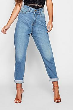 Petite High Rise Mom Jeans