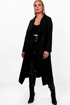 Plus Wool Look Coat