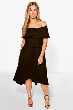 Se  Plus  Double Layer Midi Dress ved Boohoo.com