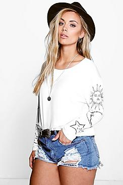 Se  Plus Sun and Moon Oversized T-Shirt ved Boohoo.com