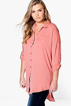 Se  Plus  Oversized Shirt ved Boohoo.com
