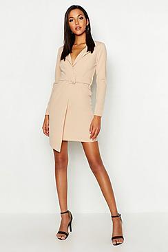 Tall Self Fabric Belted Blazer Dress