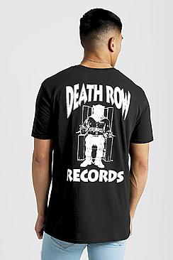 Se  Death Row Records Oversized T-Shirt ved Boohoo.com