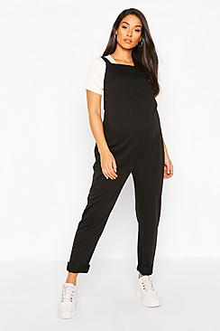 Maternity Pocket Detail Pinafore Dungaree