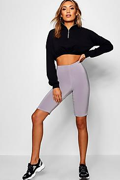 Double Layer High Waist Cycling Shorts