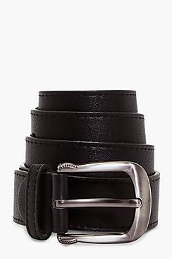 Curved Buckle Boyfriend Belt