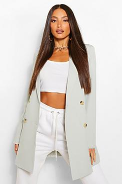 Tall Double Breasted Longline Oversized Blazer