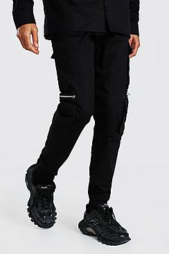 Tall Man Twill Zip Multi Pocket Cargo Trouser