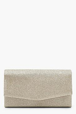 Glitter Envelope Clutch Bag and Chain