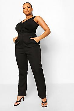 Plus Occasion Tailored High Waist Trouser