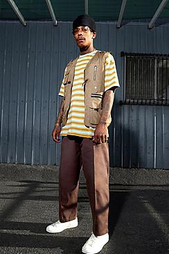 Skate Elasticated Waist Cropped Chinos