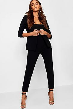 Crepe Fitted Suit