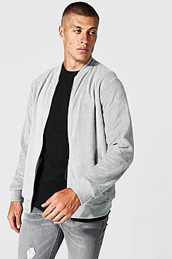 Offcl Zip Through Towelling Bomber