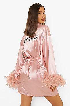 Premium Bridesmaid Feather Robe