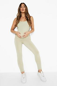 Maternity Ruched Slinky Jumpsuit