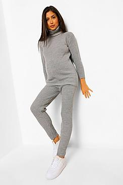 Maternity Jumper And Legging Knitted Rib Co-Ord