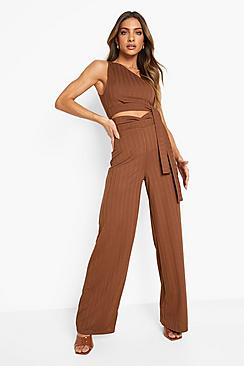 Recycled Cut Out Slinky Rib Co Ord