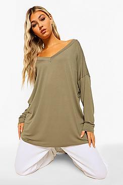 Tall Basic Oversized Long Sleeve Top