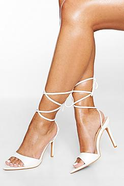 Pointed Toe Barely There Wrap Up Heel
