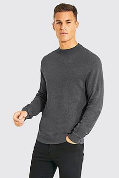 Tall Recycled Regular Fit Turtle Neck Jumper